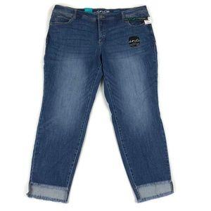 INC Womens Slim Tech Fit Skinny Leg Ankle Jeans